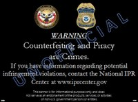 Civil Anti-Counterfeiting and Piracy Banner