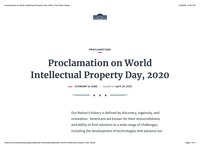 World Intellectual Property Day, 2020
