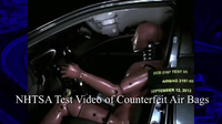 NHTSA Airbag Counterfeit
